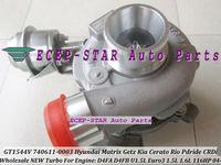 NEW GT1544V 740611-5003S 740611 782403-5001S 28201-2A400 Turbocharger For Hyundai Getz Matrix KIA Cerato Rio 1.6L D4FB D4FA 1.5L