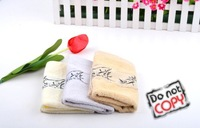 (Min Order $15) Bamboo Fiber Hand Towels,  Bamboo pattern, High Quality Washcloth, Soft & Comfortable Square Towel, 3 Colors