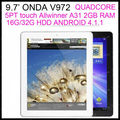 freeshipping in stock  onda v972 quadl core 2048*1536 Retina screen 2GB RAM 16GB/32g/64GB android 4.1.1 5M CAMERA TABLET  PC