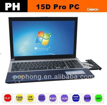 F Drop shipping laptop computer 15.6 inch Intel Celeron Processor 1037U 1.80 GHz 2G RAM  windows 8 HDD 750GB