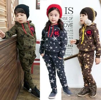 New spring Autumn children sport suit baby clothing sets girls boys clothes 2pcs set hoodies+Pants Kids Clothes/baby suits