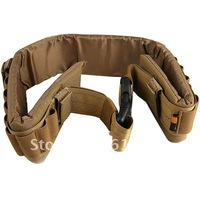 27-Holes Rifle Bullets Elastic Cartridge Holes 2-Strap Designed Hunting Belt - Earthy color