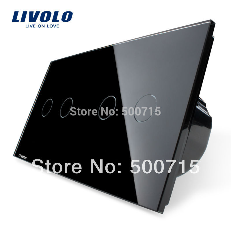 IC Origining from US ,4-Gang Intelligent touch screen,Luxury Crystal Glass Panel,Home Wall Light Switch, VL-C702-12/VL-C702-12(China (Mainland))