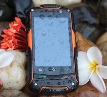 Original Rock V5+ Upgrades IP67 Waterproof Dustproof Shockproof Android4.0 512M RAM 4G ROM SmartPhone WCDMA 3G GPS Dual SIM 3pcs