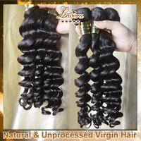 Brazilian Virgin Hair Loose Wave Rosa Hair Products 3PCS Lots Grade 6A Unprocessed Human Hair weave bundle Free Shipping
