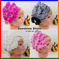 Sunshine store #2B1987 20pcs/lot(21 Style)baby headband gray biege white pink purple peacock pearl feather headband diamond CPAM
