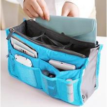 5Pcs/Lot 8 Colors Lady's Organizer Bag/Handbag Organizer/Travel Bag Organizer Insert With Pockets/Storage Bags b11(China (Mainland))