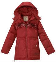 Freeshipping Winter red orange black Children Boy Kids baby removable hoody hoodedduck down jacket feather jacket PDDS11P15