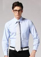 Freeshipping Autumn winter striped blue colour man men's Business casual gentleman style cotton shirt shirts top FZ-M002-60ST1