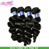 "Indian virgin hair loose body wave hair 3pcs/lot(14""-28"")  hair weaves Beautiful Berrys Fashion Hair Products"