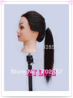 """hair mannequin head black 20"""" training head High temperature wire  Mannequin Training Head free shipping"""