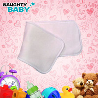 Free shipping Bamboo&cotton 50pcs 5 Layers3+2 Washable Reusable Baby Cloth Diaper Pads High Quality Organic Nappy inserts