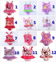 Free Shipping for 1-10years,5 styles for you choose children/girl/kids' swimsuit/swimwear/beach wear/bikini/swimming wear GS123
