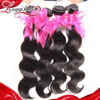 6A Grade 3PCS Lot Malaysian Virgin Hair Weaves Unprocessed Malaysian Body Wave Human Hair Weave Wavy Longqi Beauty Hair Products