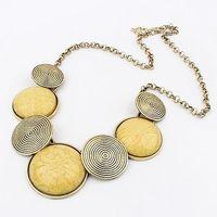 Yellow Resin Geometric Gem Vintage Bubble Chunky Choker Collar Statement Necklaces & Pendants 2014 New Fashion Jewelry Women N11