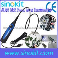 Wholesales USB Video Inspection Borescope Endoscope  6 LED Snake Scope-SK001EN