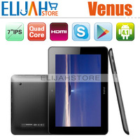 Free Shipping Cheap Ainol Novo 7 Venus Quad Core tablet PC 7inch IPS 1280*800 Android 4.1 tablet 1G/16G HDMI,Dual Camera
