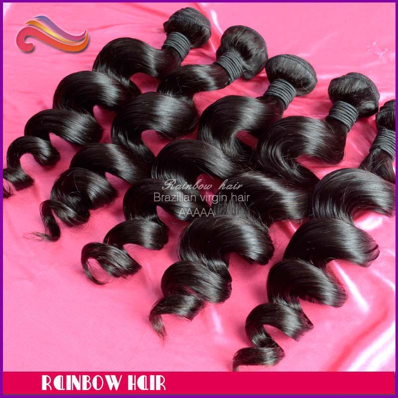 3pcs lot Loose wave Brazilian Virgin Hair Weft Human hair extension weaving hair Natu