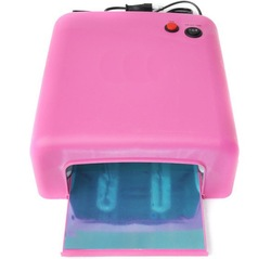 Only 110V Avaliable Now~! Wholesale -Hot selling! UV Lamp Dryer 36w Gel Curing Nail + 4 x 9w Tube Light Bulbs Rose SK818(China (Mainland))
