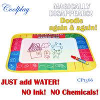 Free shipping 29X19cm CP1366 4 color Water  Drawing Toys Mat Aquadoodle Mat&1 Magic Pen/Water Drawing  board/baby play mat