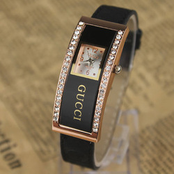 2013 Newest Womens Fashion Promotion Cow Leather Strap Rhinestone Wrist Watches With Top Famous For Lady And Women SS318(China (Mainland))