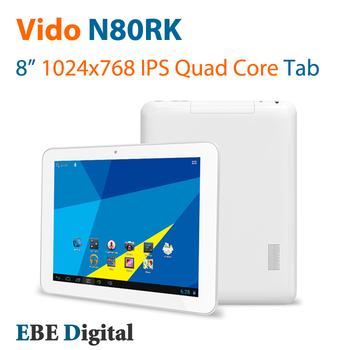 Original Vido N80 RK 8 inch Quad Core RK3188 Tablet Pc Android 4.1 1024x768 IPS 1GB 16GB WiFi OTG HDMI Freeshipping SG Post