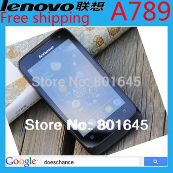 "Original Lenovo A789 phone MTK6577  4.0""WVGA Capacitance Screen 3G Dual core 1.0GHZ CPU  Russian language"