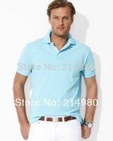 Free Shipping Wholesale HOT Classicfit Unisex Mesh T Shirts Blank T-shirts Men Short Sleeve Turn-down Collar Cotton Tees