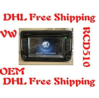 VW  Car Radio Stereo RCD510 New Original OEM  Radio With Code For Golf 5 6  Jetta Mk5 Mk6 Passat CC Tiguan