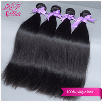 Ali POP hair products 100% r peruvian straight hair 4 bundles lot peruvian virgin straight  hair free shipping