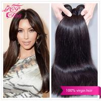 Ali POP Hair Hot selling Peruvian human hair weave straight 3pcs /4pcs/lot 100% Peruvian virgin hair weaves soft  thick bundle