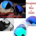 2013 Super Cool Men Women  Colorful Polarized Sunglasses Driving Aviator Sun Glasses +Box+Cloth Free Shipping  #003