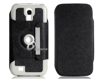 Faux Leather Protective Case with Magnetic Closure for Samsung Galaxy S4/i9500    LMS-0743D