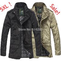 2014 Mens Jacket free shipping men coat waterproof brand new winter jacket men trench large size 5XL Coat Slim Fall Outerwear
