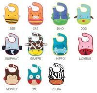 Free Shipping 5pcs/lot Mixed Sales Zoo Baby Bibs Cartoon 13Design Waterproof Infant Bibs Baby Wear