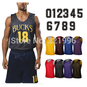 Customized  Reversible Mesh Basketball Jersey Top 10 colors Mix order/Wholesale Free Shipping