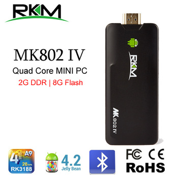 Rikomagic MK802IV Quad core Android 4.2 Rockchip RK3188 2G DDR3 8G ROM Bluetooth HDMI TF card [MK802IV/8G/BT]