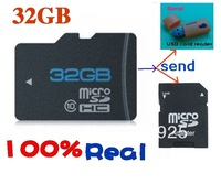 New TF Storage card 16GB 32GB 64GB Micro memory SD card Send USB card reader Free adapter wholesale Free shipping
