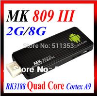 Quad core RK3188 Google TV Box MK809III Android 4.4.2 2GB RAM 8GB ROM 1.6GHz Bluetooth Wifi Google TV Player HDMI MK809 III