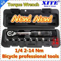 "XITE 1/4""DR 2-14Nm 10 piece torque wrench Bicycle bike tools kit set tool bike repair spanner"