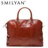 Smilyan 100% genuine leather bag fashion bolsas femininas vintage handbags women famous brands briefcases messenger shoulder bag