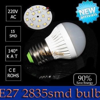 1pcs hot selling  led light High power led e27 3W 4w 5W 7w 9w  12w 15w   2835 SMD AC220V Energy saving office lamp lighting