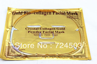 2013 Brand New Gold Crystal Collagen Facial Mask Face Masks Wholesale 10Pcs / Lot/Free shipping/
