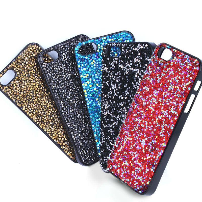 Hot Selling New 3D Crystal Design Mobile Phone Case Fashion Unique 5 Color Combinations Special Crystal Patterns Bling Bling(China (Mainland))