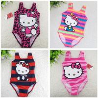 1-9 Years Children Baby Swimsuit/Girl's Hello Kitty One-Piece Swimwear/Kid's Pink Swimming Wear/Wholesale Retail 1