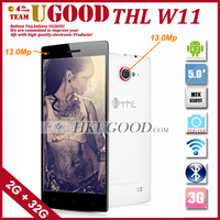 THL W11 MTK6589T 1.5Ghz Android 4.2 Quad Core Mobile phone 2G RAM+32G ROM 13.0Mp+13.0Mp Dual Camera 1080p Screen 2 Gift Packages