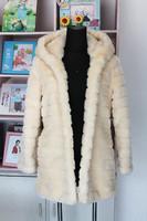 women's coat ,2014 winter rabbit fur  faux fur coat ,long overcoat, fox fur outerwear ,plus size s - 5Xl is_customized