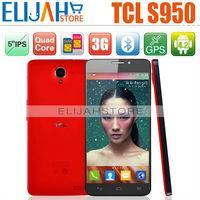 Free Shipping 5'' TCL idol X S950 3G MTK6589T Quad Core Phone Android 4.2 2G/16G Bluetooth GPS Dual SIM