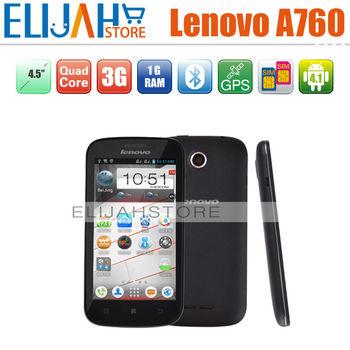 Lenovo A760 MSM8225Q Quad Core 3G mobile phone 4.5'' Capacitive Dual Camera Dual SIM Android 4.0 Bluetooth GPS 1G/4GB Russian