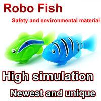 Magical Turbot Fish 10 pcs Electronic Swimming Magical Robo fish New Robot Activated Turbot electric Fish FSFSAWB